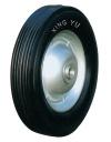 Колесо промышленное, литая черная резина, стальной прессованный цельный обод, несимметричная ступица, шарикоподшипник (SR1501 (AS))