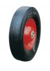 Колесо промышленное, литая черная резина, стальной прессованный цельный обод, несимметричная ступица, шарикоподшипник (SR1900 (AS))