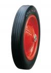 Колесо промышленное, литая черная резина, стальной прессованный обод, симметричная ступица, шарикоподшипник (SR2500 (S))