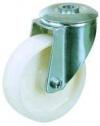 Колесные опоры поворотные, нейлон, крепление под болт, подшипник скольжения (SRChn42 (43))