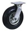 Колесные опоры поворотные, пневматическое колесо, стальной прессованный обод, платформенное крепление, шарикоподшипник (PRS63 (60))
