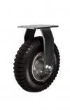 Колесные опоры неповоротные, пневматическое колесо, стальной прессованный обод, платформенное крепление, шарикоподшипник (PRF63 (60))