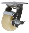 Колесные опоры поворотные с тормозом, полиамид, платформенное крепление, шарикоподшипник (SCdnpb42 (30))