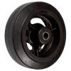 Колеса тяжелогрузные , чугунный обод, литая черная резина,  роликоподшипник  (D54 (29))