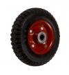 Колеса тяжелогрузные , стальной обод, литая черная протекторная резина,  шарикоподшипник (R63 (60))